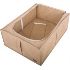 Бокс для хранения вещей и обуви на 2 отделения 53*41*18 см (бежевый)