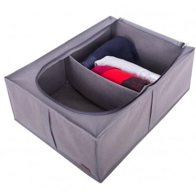 Купить органайзер для хранения вещей с крышкой (серый)