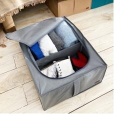 Органайзер для хранения вещей с крышкой (серый)