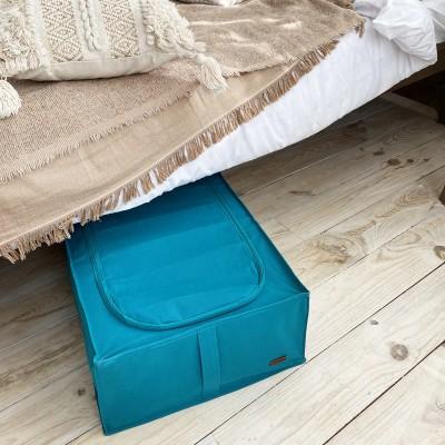 Купить короб для хранения вещей со съемной перегородкой 53*41*18 см (лазурь)