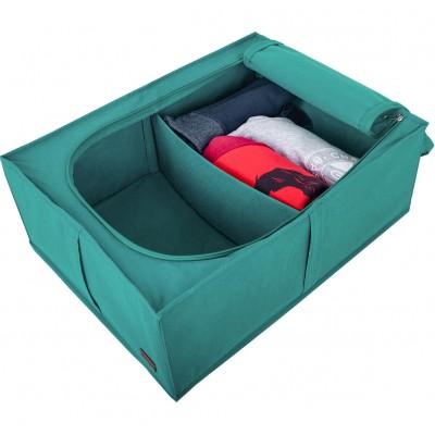 Купить короб для хранения вещей со съемной перегородкой (лазурь)