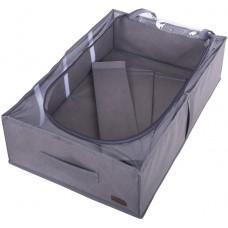 Органайзер для хранения сапог и демисезонной обуви со съемными перегородками (серый)