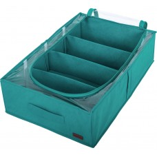 Короб для хранения вещей с тремя съемными перегородками (лазурь)