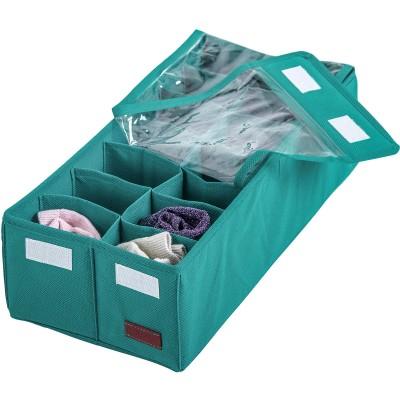 Купить органайзер с квадратными ячейками и крышкой (лазурь)