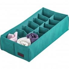 Коробочка с квадратными ячейками для носков и трусов 35*17*8 см (лазурь)