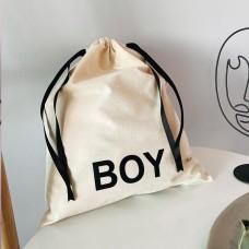 Мешок хлопковый для вещей 30*35 см Boy (светлый)