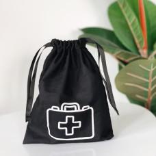 Мешок хлопковый для лекарств 19*23 см Drugs (черный)