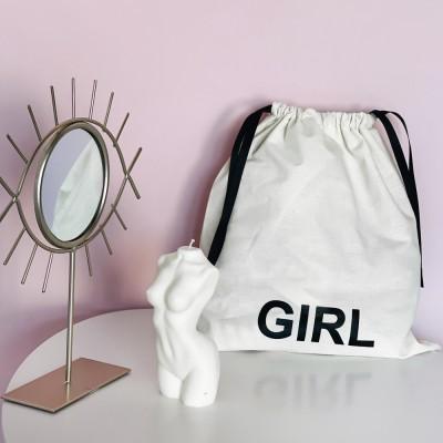 Мешок хлопковый для вещей 30*35 см Girl (светлый)