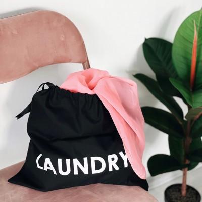 Мешок хлопковый для грязного белья 38*38 см Laundry (черный)
