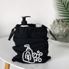 Мешок хлопковый для косметики 30*20 см Soap (черный)