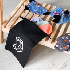 Мешок хлопковый для носков 20*30 см Socks (черный)