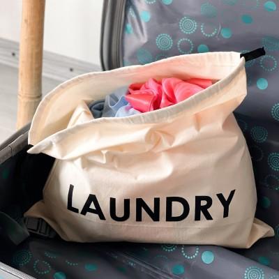 Мешок хлопковый для грязного белья 38*38 см Laundry (светлый)