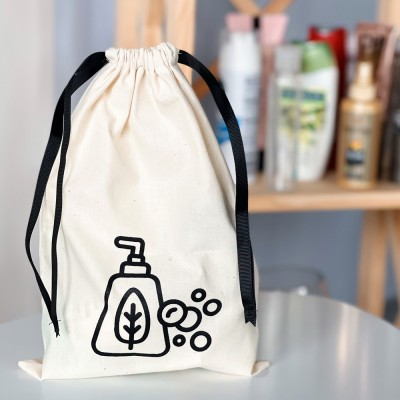 Мешок хлопковый для косметики 30*20 см Soap (светлый)
