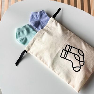 Мешок хлопковый для носков 20*30 см Socks (светлый)