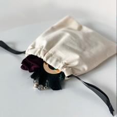 Мешок хлопковый для мелочей 16*18 см без рисунка (светлый)