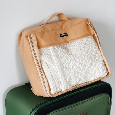 Купить большую дорожную сумка для вещей 40*31*15 см (бежевый)