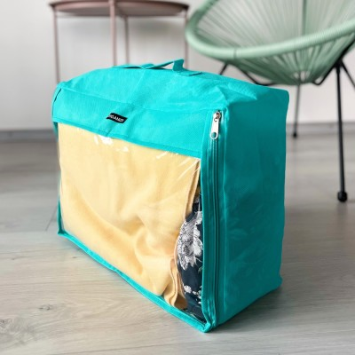 Купить большую дорожную сумку для вещей 40*31*15 см (лазурь)