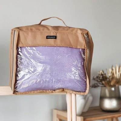 Купить среднюю дорожную сумку для вещей 30*27*12 см (бежевый)