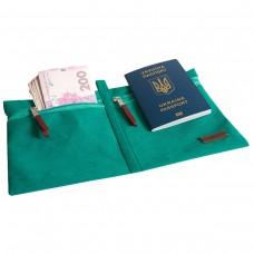 Органайзер для документов в путешествие (лазурь)