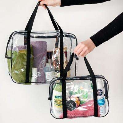 Купить набор силиконовых сумок для пляжа 2 шт (черный)