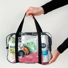 Силиконовая сумка для пляжа среднего размера (черный)