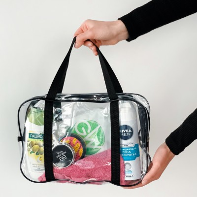Купить силиконовую сумку для пляжа среднего размера (черный)