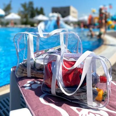 Купить набор силиконовых сумок для пляжа 2 шт (белый)
