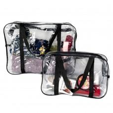 Набор силиконовых сумок для пляжа 2 шт (черный)