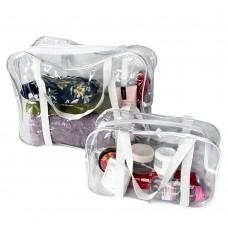Набор силиконовых сумок для пляжа 2 шт (белый)