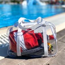 Силиконовая сумка для пляжа среднего размера (белый)