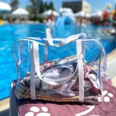 Силиконовая сумка для пляжа большого размера (белый)
