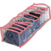 Прозрачный органайзер на 10 ячеек S - 15*39*9 см (розовый)
