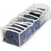 Прозрачный органайзер на 10 ячеек S - 15*39*9 см (белый)