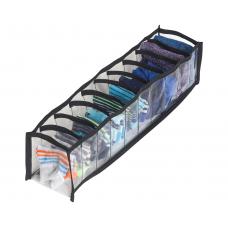Прозрачный органайзер для носков XS (черный)