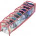 Прозрачный органайзер для носков XS - 10*39*9 см (розовый) | ORGANIZE