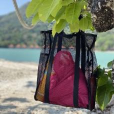 Пляжная сумка или шоппер из прочной сетки (черный)