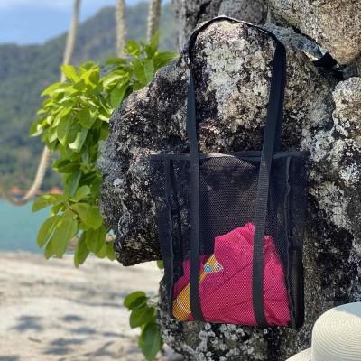 Купить пляжную сумку или шоппер из прочной сетки (черный)